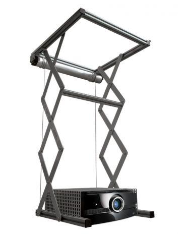 Elevatore motorizzato da controsoffitto per videoproiettori ingombranti