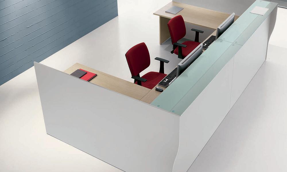 Reception Ufficio Bianco : Banconi reception prezzi economici offerta banco desk reception